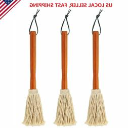 """3 Pk 12"""" BBQ Sauce Basting Mops for Roasting Grilling Cookin"""