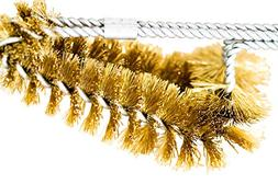 BBQ Grill Brass Cleaning Brush 15 inch -MADE IN USA Real Ame