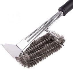 BBQ Grill Brush Barbecue Cleaning Brush with Scraper for Web