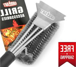 """Grill Brush and Scraper, 18"""" Stainless Steel Grill Brush"""