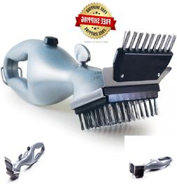 Handheld Barbeque Grill Steam Power Brush with Stainless Ste
