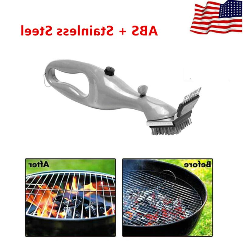 bbq cleaning brush with steam power outdoor