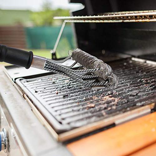 Bristle Grill Set - Tool Best Barbecue Gas/Charcoal, Cast Indoor, Camping, Grills