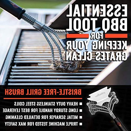 Grillaholics Grill Brush Bristle Free - Safe Grill Cleaning Bristles Duty and Manufacturers