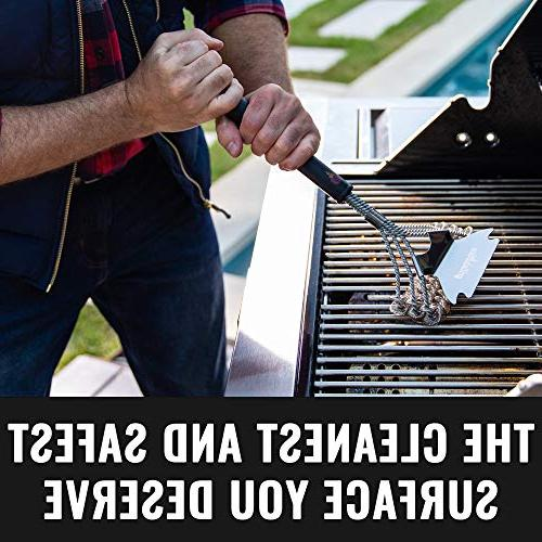 Grillaholics Grill Brush Bristle Free Safe Cleaning No Bristles Duty Stainless and Scraper Manufacturers