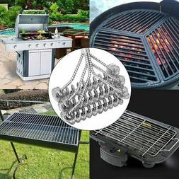 """18"""" BBQ Barbecue Grill Brush Clean Tool Stainless Steel Wire"""