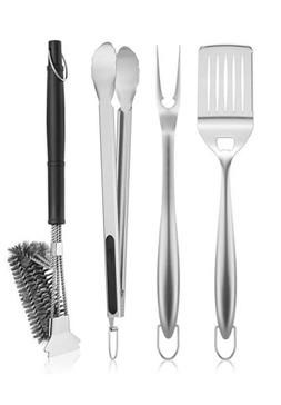 SHINESTAR 3+1 Grill Accessories Set, Cleaning Tool Brush for