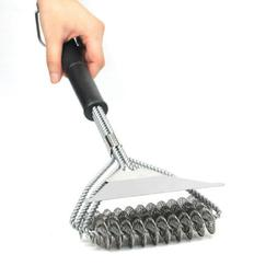 Stainless Steel BBQ Brush Three-head Oven Grill Cleaning too