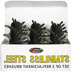 Stainless Steel Set of 3 Replacement Brushes for Automatic B